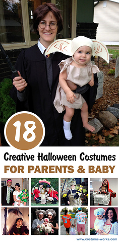 18 Creative Halloween Costumes for Parents and Baby