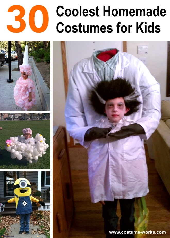 30 coolest homemade costumes for kids for Homemade halloween costumes for kids