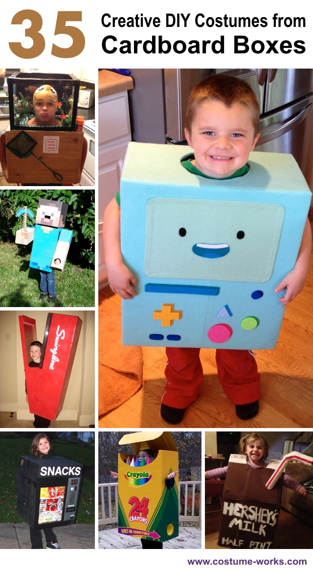 35 creative diy halloween costumes from cardboard boxes solutioingenieria Choice Image