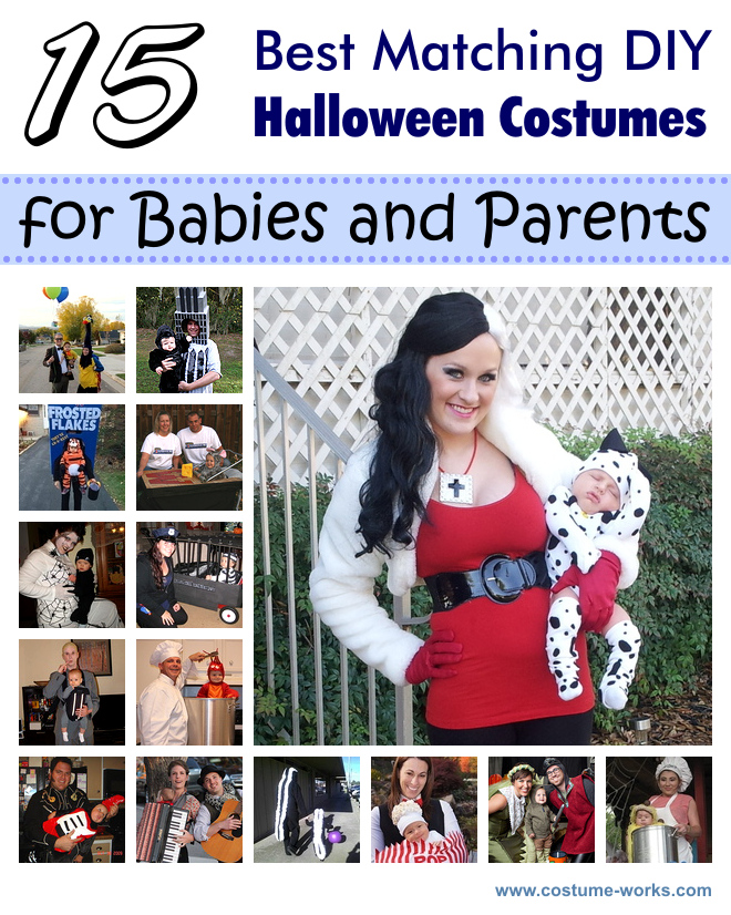 15 best matching diy costumes for babies and parents solutioingenieria Image collections