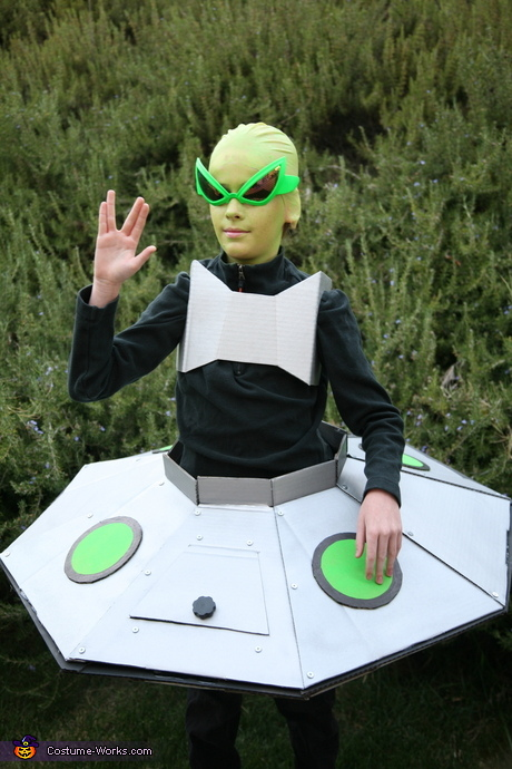 Alien in his Spaceship Costume