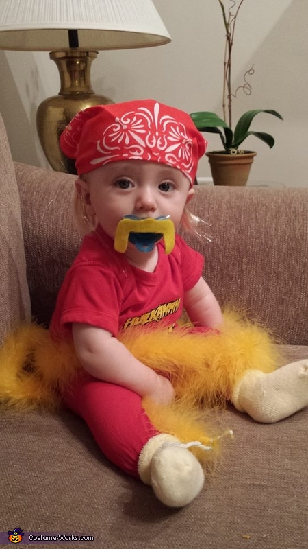 Funny baby costume ideas - Baby Hulk Hogan Costume