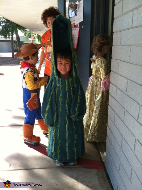 Homemade Saguaro Cactus costume
