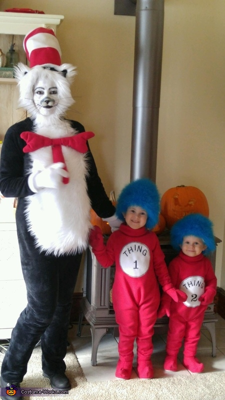 Children's Literature Halloween Costume - DIY Cat in the Hat Family Costume