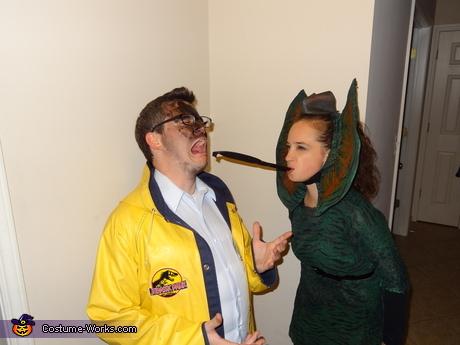 Dilophosaurus & Dennis Nedry Jurassic Park Couple Costume