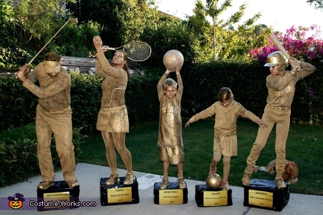Trophy Shelf Family Halloween Costume Idea
