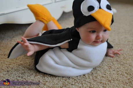 Animal costume ideas for babies: Penguin Costume for Babies