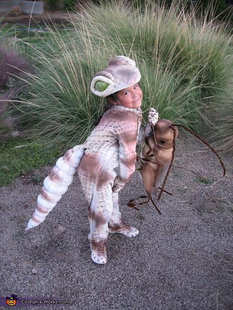 Animal costume ideas for girls: Gecko homemade costume