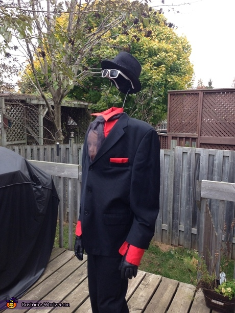 DIY Illusion Halloween costumes - Invisible Man Costume