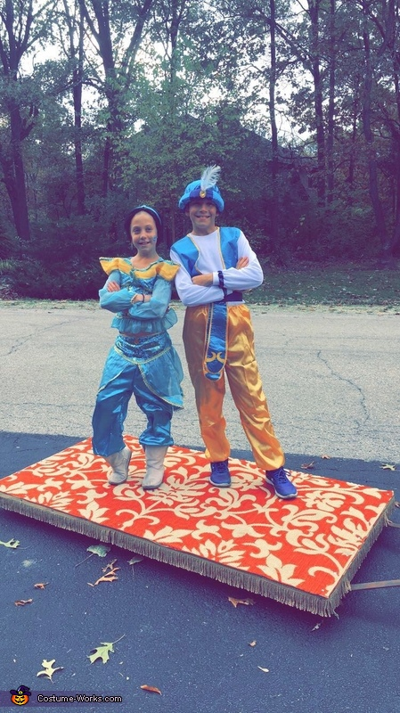 Jasmine and Aladdin on their Magic Carpet Costume