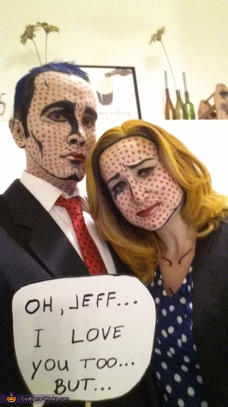 Coolest couples Halloween costume ideas: Lichtenstein Pop Art Costume