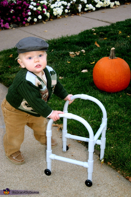 Costume ideas for baby's first Halloween - Little Old Man Costume