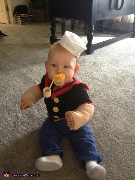 DIY Popeye Baby Costume