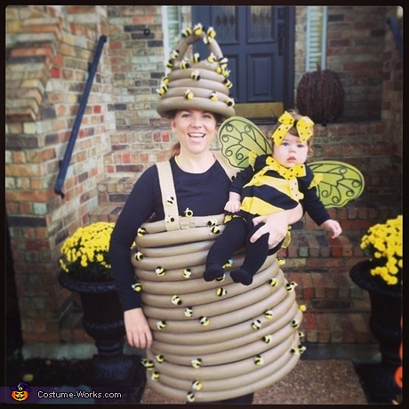 Mama Beehive and Baby Bee Costumes