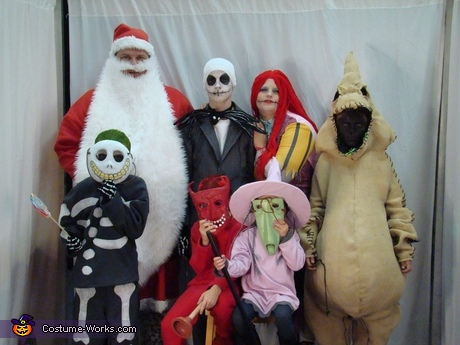 family costume ideas nightmare before christmas family costumes