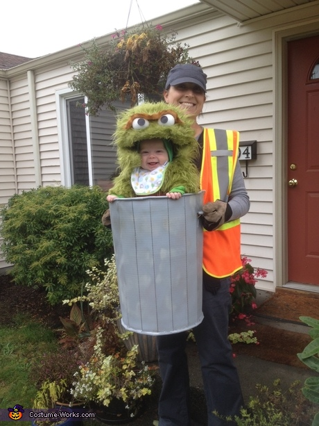 Parent and baby costume ideas: Oscar the Not-so-Grouchy Grouch Costume