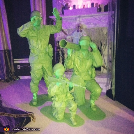 Plastic Army Men Family Costume