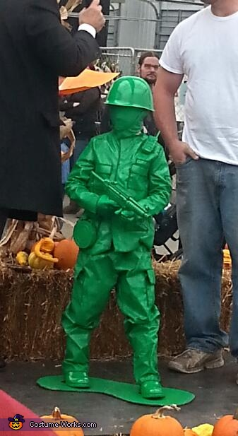Plastic Green Army Man Costume