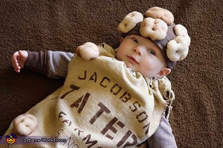 Cute Halloween costumes for babies - Potato Sack Baby Costume
