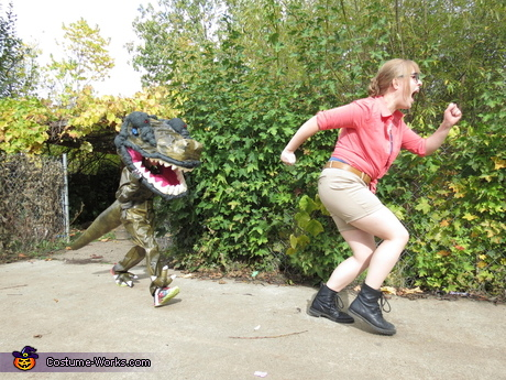 T-Rex and Ellie from Jurassic Park Costume