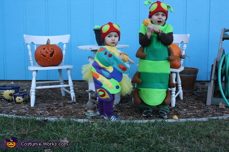 Child's Books Halloween Costume - The Very Hungry Caterpillar and Beautiful Butterfly Halloween Costumes