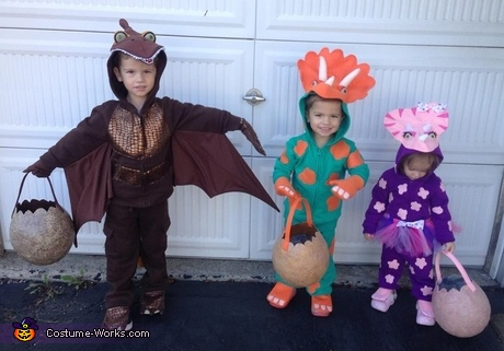 Three Little Dinosaurs Costume