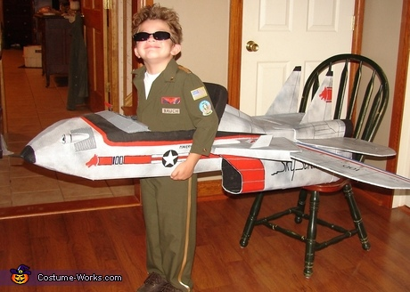 Maverick Top Gun Fighter Pilot Costume