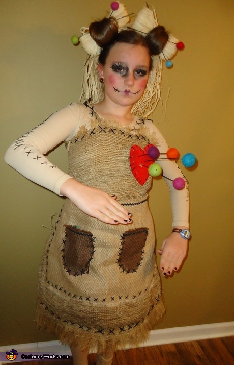 DIY Girl's Halloween Costume Ideas - Voo Doo Doll Costume