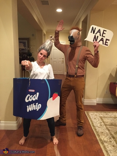 DIY Halloween costumes for couples: Whip and Nae Nae Couple Costume