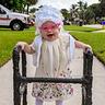 Photo #1 - Boca Raton Florida's newest retiree Olivia Ryan enjoying a stroll through the neighborhood.