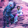 Photo #1 - Space Girl and Astronaut spot the Aliens