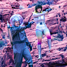 Photo #2 - Space Girl and Astronaut fire at the intruders!