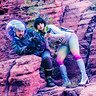 Photo #3 - Space Girl and Astronaut hide from the Aliens!