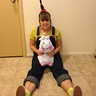 Photo #1 - Agnes and her unicorn united, at long last!