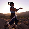 Photo #2 - Korra practicing her waterbending forms!