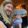 Photo #2 - Baby Mjolnir hoping Thor doesn't try to spin him to fly.