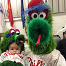 Photo #2 - Philly Phanatic meets his biggest fan, Baby Phanatic!