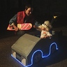 Photo #2 - Daddy and Daughter Trick-or-Treating as Marty McFly and Doc Brown in their Mini-DeLorean