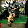 Photo #1 - This was at fandom fest in front of Brazenmonkey's Toothless sculpture