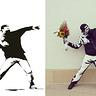 Photo #2 - The original artwork (left) next to my costume (right)