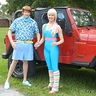 Photo #1 - Barbie & Ken with Ken's Jeep