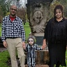 Photo #5 - Family photo. Adam, Beetlejuice, and Lydia