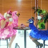 Photo #5 - Together sipping coffee! Sitting comfortably in our costumes!