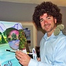 "Photo #1 - Bob Ross and his ""Happy Trees"""