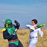 Photo #2 - Princess Leia (Maddy) Showing Boba Fett (Jordan) Who's Boss