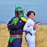 Photo #1 - New Cop Show Pose: Princess Leia (Maddy) and Boba Fett (Jordan)