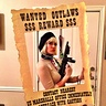 Photo #2 - Bonnie posing with the Wanted Poster