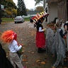 Photo #4 - side view of Le Meurte costume trick or treating.