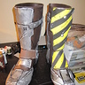 Photo #3 - His boots were just garden/working boots I found at Walmart, and I hot glued and sewed the foam pieces on, then colored them to give them a more 3D look. From far away, you wouldn't know it was foam!