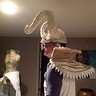 Photo #6 - During construction of the costume ,had friend model so I could check scale and proportion